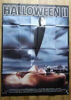 HALLOWEEN 2 Horror Jamie Lee Curtis original LARGE french movie poster '82