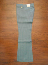 Mens Original Vintage Farah Premium Herringbone Stripe Flare 28x30 Pants Slacks!