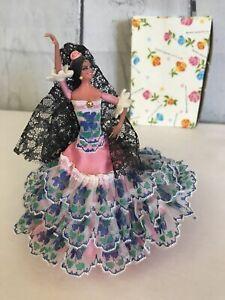 "5"" Vintage Marin Chiclana Spanish Dolls Of The World Beautiful Figure Dancing"
