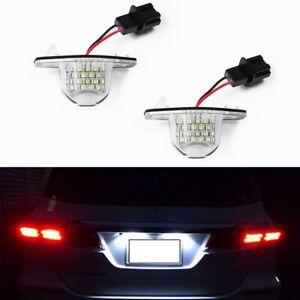 Car LED License Plate Lights Assembly For Honda Jazz Odyssey Stream CRV Insight