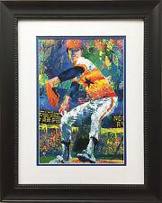 "LeRoy Neiman ""Nolan Ryan"" Custom FRAMED ART PRINT Houston Astros NY METS Rangers"