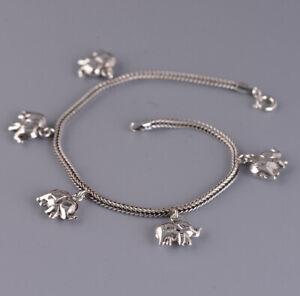 I05 Armband kleine Elefanten aus Sterling Silber 925 Elefant 19 cm