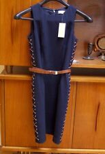 "Michael Kors Dark Navy Blue Sleeveless Dress Size 4  ""Retail $149.99"" New/Tags"