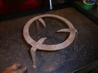 Support Fer Forgé dessous de Plat Marmite Cuisson sur Braise Barbecue Cheminée 4