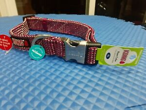 KONG X- LARGE DOG COLLAR REFLECTIVE PINK XL NECK SIZE 24-30 INCHES FLAT ROPE NEW