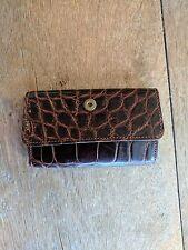 Vintage Polo Ralph Lauren Brown Crocodile Key Case - Rare
