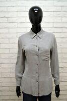 Camicia TRUSSARDI Donna Taglia S Maglia Blusa Shirt Woman Jeans Hemd Grigia