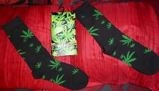12 X Pairs of Fun Novelty Long Socks Weed Motis Size 6-11 BARGAIN