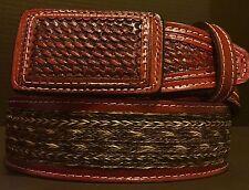 TOTALMENTE NUEVO Cinto Crin De Caballo Mexican Charro Belt Western   Cowboy