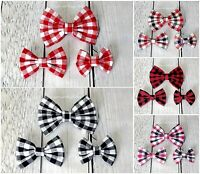 Plaid hair bows 3 4 5 inch checkered christmas baby toddler girls baby bow clip