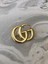 "1"" Gucci GG Pin Brooch Gold"