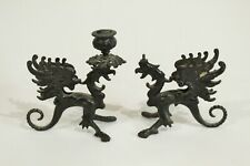 New listing Old Cast Iron Architectural Salvage Griffin Candle Holders