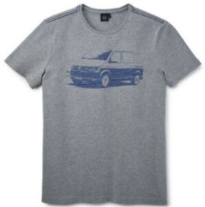 VW Bus T6 - Herren T-shirt / Tshirt - Grau - L - original VW - NEU