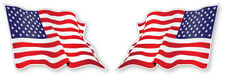 2 X American Wavy Flag Vinyle Voiture Van Ipad Laptop Casque Autocollant