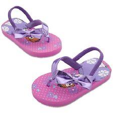 New Disney Store Sofia Princess Purple Sandle Thongs Flip Flops Size 5-6