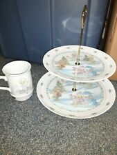 Precious Moments Lot Of Musical Cup And Christmas Stand. Excellent Condition