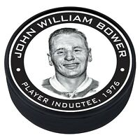 Johnny Bower Toronto Maple Leafs 1976 Hall of Fame Induction 3D Textured Puck