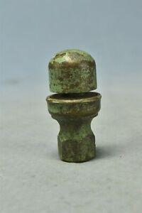 Antique BRASS ANTI SIPHON VALVE ORIGINAL GREEN WORN PAINT FEMALE END #02751