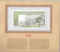 RARE signature 15 1981  West African States Togo 500 Francs UNC P 806Tc S.9