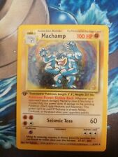 MACHAMP 8/102 base set 1999 see description for CONDITION details POKEMON