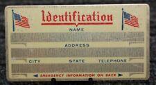 Metal Identification Id Card Custom Engraved 080chr
