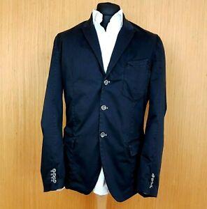 """Diesel Black Gold Mens Denim Jacket 42"""" Size Large Black Fitted Blazer"""