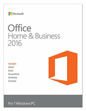 Microsoft Office Home and Business 2016 Windows English PC Key Card