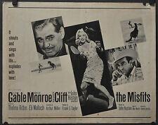 The Misfits 1961 Original Enroulé Affiche Film 22X28 Marilyn Monroe Clark Gable