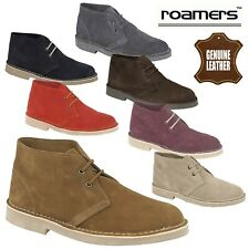 Roamers Unisex Real Suede Leather Desert Boots Men's & Women's UK Sizes 3-15