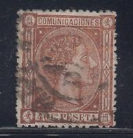 ESPAÑA (1875) USADO SPAIN - EDIFIL 167 (40 cts) ALFONSO XII