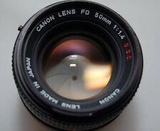 Canon FD 1:1.4 50mm SSC Lens