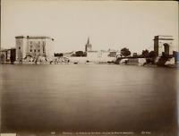 ND. France, Tarascon, le château du roi René  Vintage albumen print Tirage alb