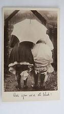 1900s Vintage Risque Edwardian Comic Postcard Upskirt Stockings Garter Bottoms