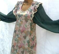VINTAGE 60s 70s HIPPY BOHO FOLK FESTIVAL MAXI DRESS PINAFORE LOOK