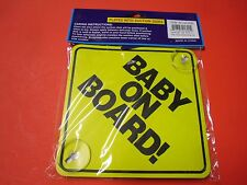 4Pk Baby On Board Plastic Plates w Stay-Put Suction Disks for Cars Van Suv A1