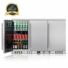 53 Inch Solid 3-Door Outdoor Beverage Drinks Cooler