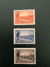 AUSTRALIA stamps-Scott 142-143-144 MLH cv$75