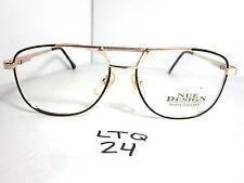 Vtg 80s Nue Design 2287 Aviator Sun Eyeglass Frame Moda Italiana Gold (Ltq-24)