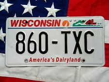 WISCONSIN license licence plate plates USA NUMBER AMERICAN REGISTRATION