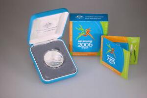 2006 RAM $5 Silver Proof Coin - Melbourne ComGames - Baton Relay D6-1508