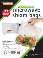 Microwave Steam Bags MEDIUM 30 pk - quickasteam - healthy quick easy