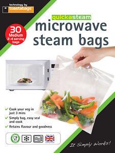 Microwave Steam Bags MEDIUM 30 pk - quickasteam - healthy quick easy
