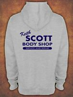 Keith Scott  Hooded Sweat One Tree Hill Body Shop Hoodie Grey