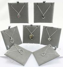 Sterling Silver heart Pendant & Necklace various Styles