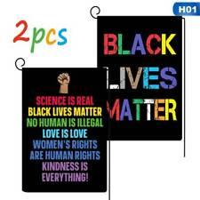 2Pcs I Can't Breath Black Lives Matter Flags Hanging Banner Garden Flags Hot