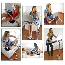 360° Adjustable Foldable Laptop Desk Aluminum Table Stand Bed Notebook Tray Sofa