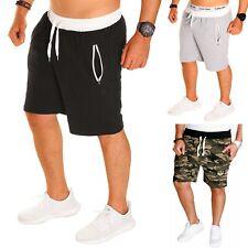 Hombre Pantalones Cortos Bermuda de Deporte Algodón Capri Gimnasio Verano Nuevo