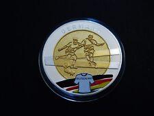"""Medaille  Fussball EM 2012  """"Polen - Ukraine""""  PP  mit Farbe"""