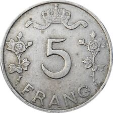 LUXEMBOURG 5 francs frang 1949 Charlotte KM#50 (1456)