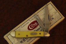 CASE XX USA 7 DOT 2003 YELLOW PEANUT KNIFE 3220 CV NICE (BU50)